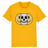 T-shirt smiley tête de mort - Jaune / XS - T-shirt