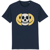T-shirt smiley tête de mort - Marine / XS - T-shirt