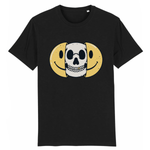 T-shirt smiley tête de mort - Noir / XS - T-shirt