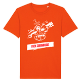 T-shirt Fuck Coronavirus - Orange / XS - T-shirt