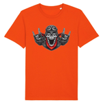 T-shirt Superman Tête de mort Homme - Orange / XS - T-shirt