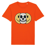 T-shirt smiley tête de mort - Orange / XS - T-shirt