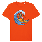T-shirt Tete de mort Surfeur homme - Orange / XS - T-shirt