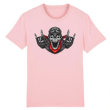 T-shirt Superman Tête de mort Homme - Rose / XS - T-shirt