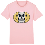 T-shirt smiley tête de mort - Rose / XS - T-shirt