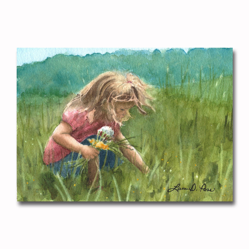 Picking Wildflowers Giclee