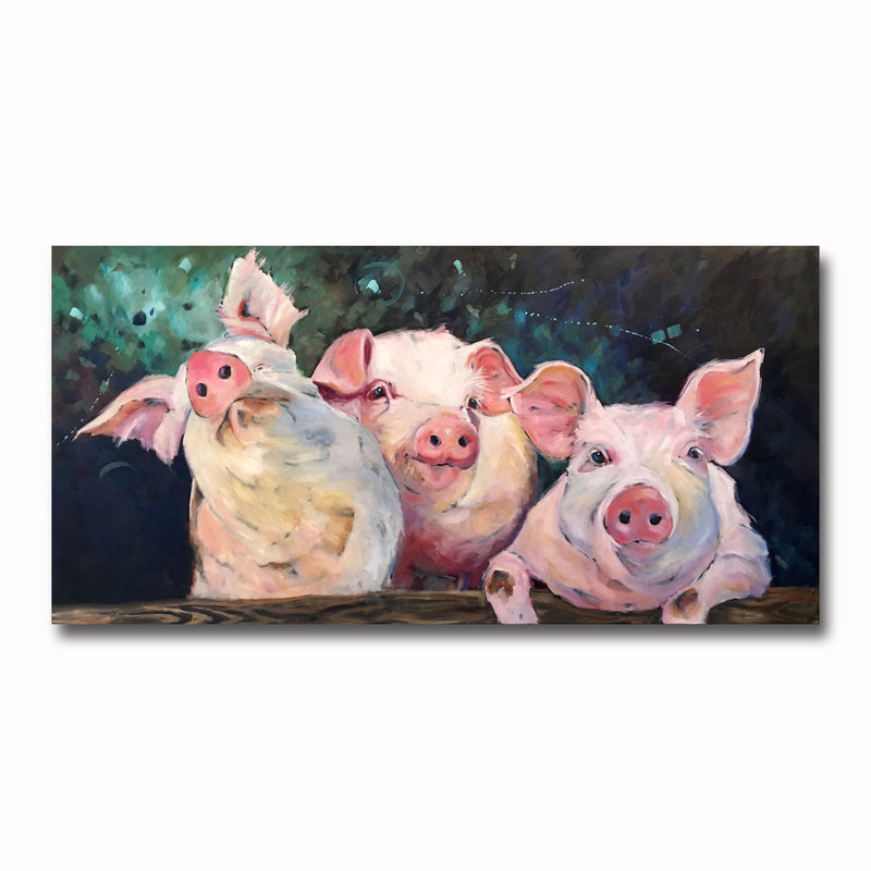 3 Little Pigs 11X14 Print