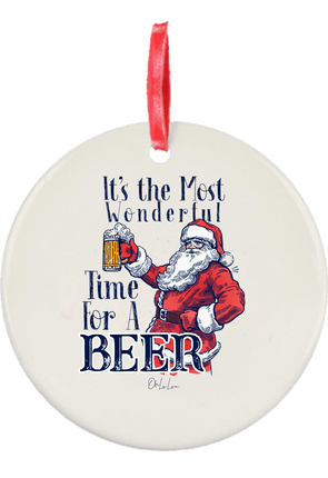 Most Wonderful Time For A Beer Christmas Ornament