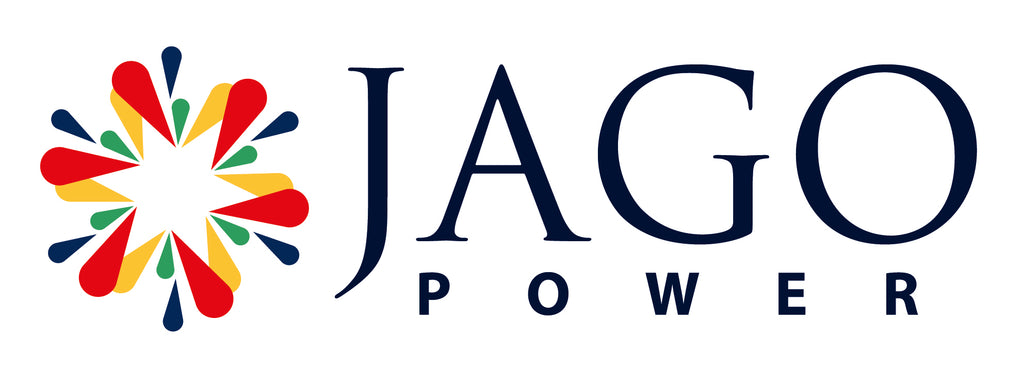 Logo, letterhead, business card and envelope for Jago Power