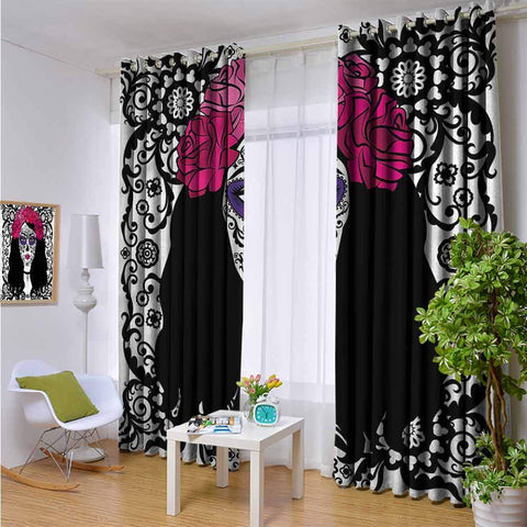 Blackout Lining Curtain Girl with Make Up Full Shading Treatment Kitchen