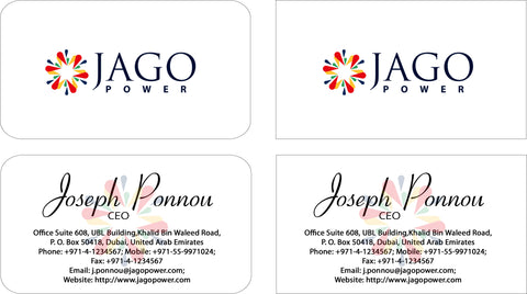 Logo, letterhead, business card and envelope for Jago Power created on 10 August 2012 by Shawlin