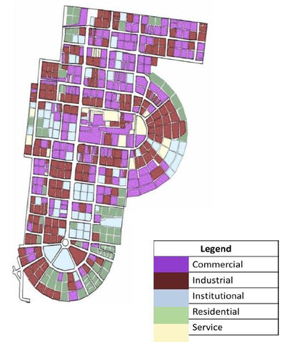 Land use map of Tejgaon Industrial area