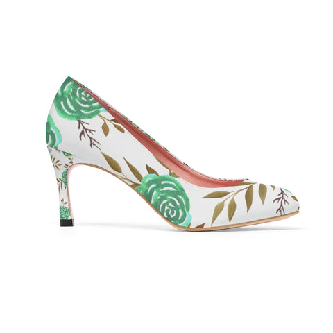 Green rose pump shoes high Heels - Shawlin
