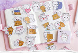 Milk and Mocha Bear Stickers for Scrapbooking DIY and planners - Shawlin