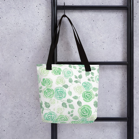 Rose printed Reusable Canvas Tote bag for everyday use