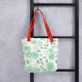 Rose printed Reusable Canvas Tote bag for everyday use - Shawlin