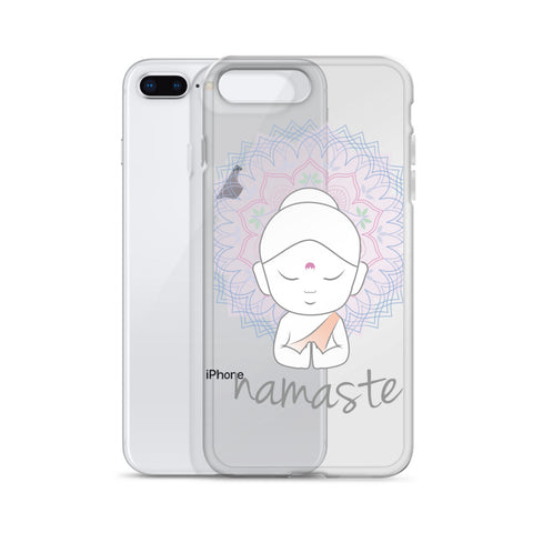 Cute Buddha doodle and mandala iPhone Case - Shawlin