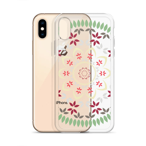 Floral mandala iPhone Case transparent - Shawlin