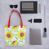 Sunflower canvas Tote bag - Shawlin