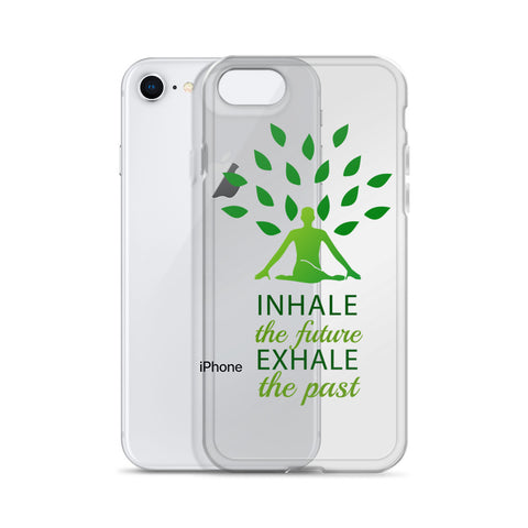 Yoga quotes inhale exhale iPhone Case | Yoga asanas phone cover - Shawlin