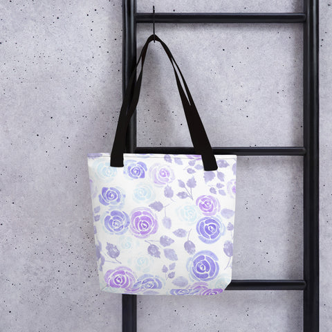 Purple roses beach Tote bag - Shawlin