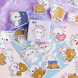 Milk and Mocha Bear Stickers for Scrapbooking DIY and planners