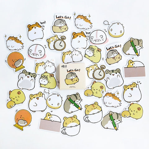 Cute and adorable cat couple stickers for scrapbooking and DIY