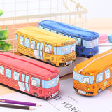 School Bus shaped Pencil Case -Back to School Pencil pouch with large room - Shawlin
