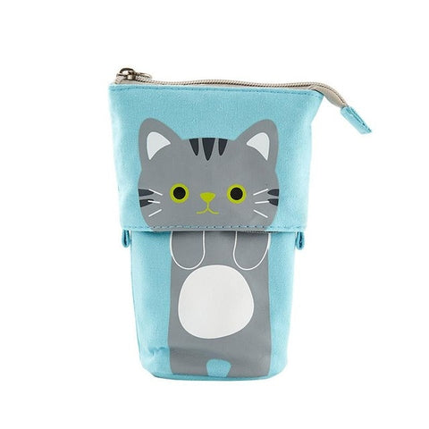 Cute kitten fabric pencil case and holder - Shawlin