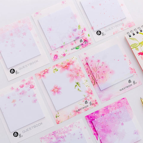 Sakura flower sticky note pads- 30 sheets per pack memo pads