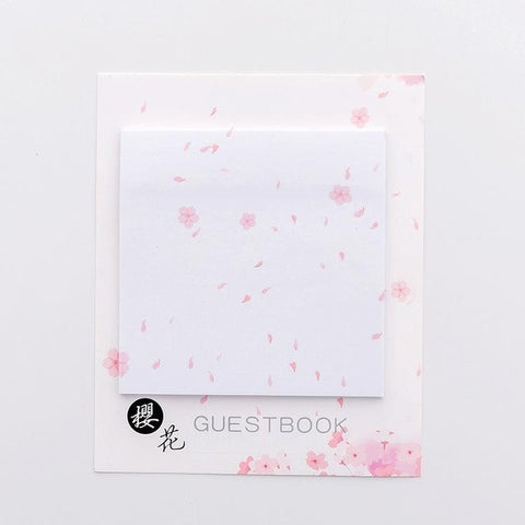 Sakura flower sticky note pads- 30 sheets per pack memo pads - Shawlin