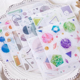 Washi stickers for Craft or scrapbooking-10 sticker sheets per pack