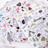Washi stickers for Craft or scrapbooking-10 sticker sheets per pack - Shawlin