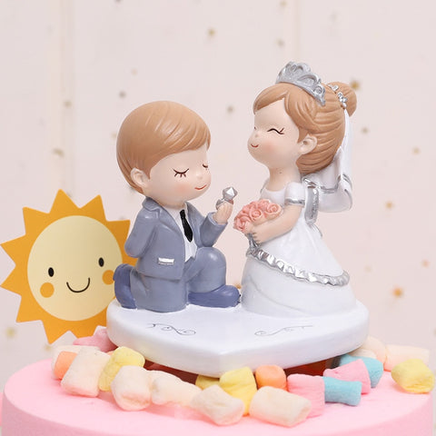 Happy Wedding couple kawaii cake toppers - Shawlin