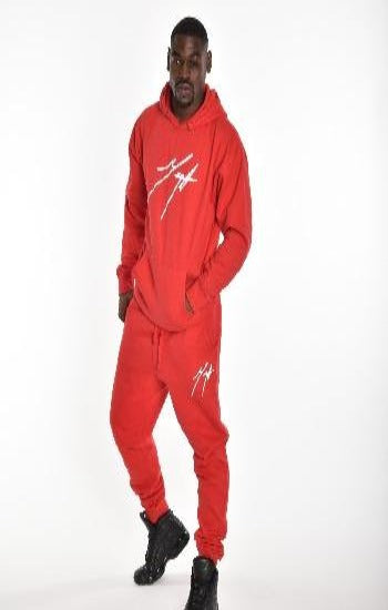 Hot Red Men's Joggers