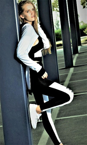 Mega Fashion Club Ultra Tight Legging and Sports Top Active Set