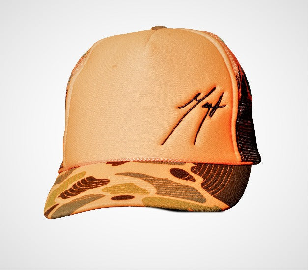 Cool Logo Cap - Orange Camouflage