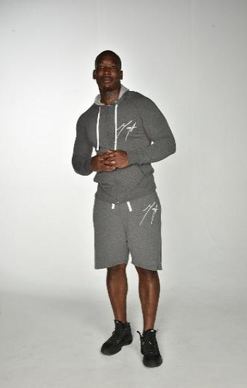 Hoodie jackets and Short mega signature Clean cut set