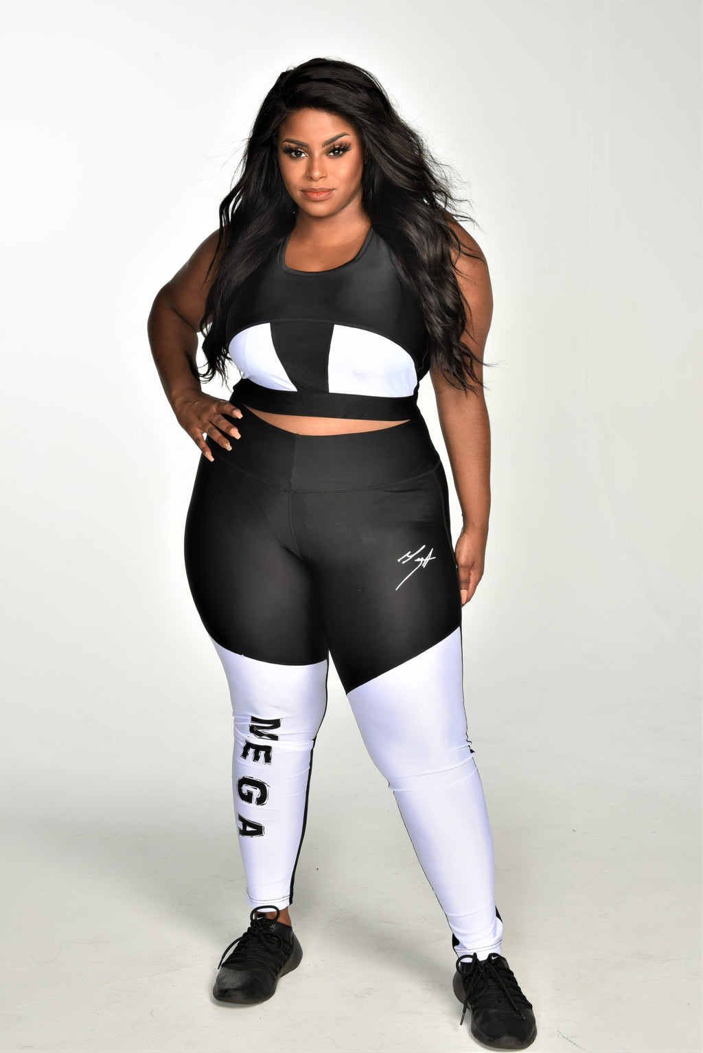 Mega Black and white Legging set