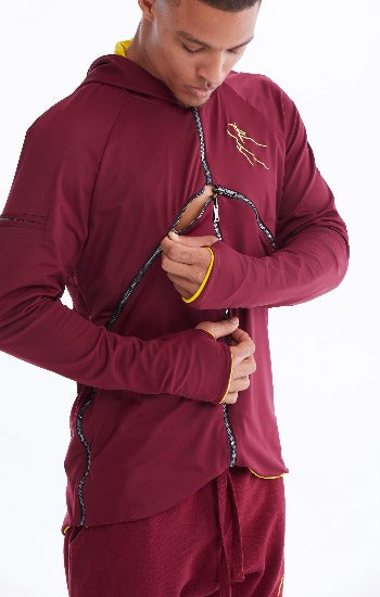 The Mega wrap Burgundy hoodie