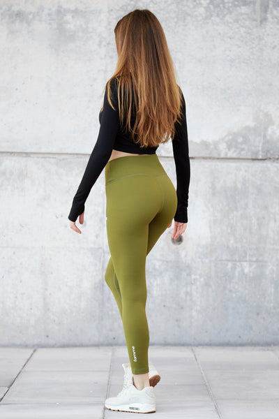 Forest Green Essential High Waist Tights