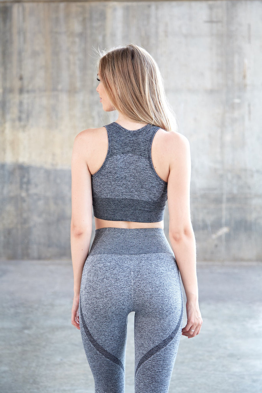 Dark Grey Elevate Crop Top Push Up