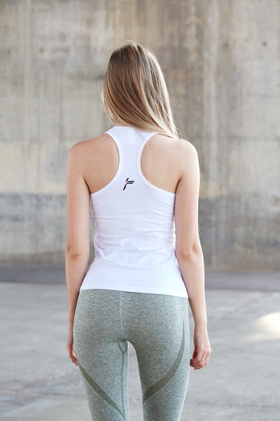 White Atlantic Seamless Tank Top
