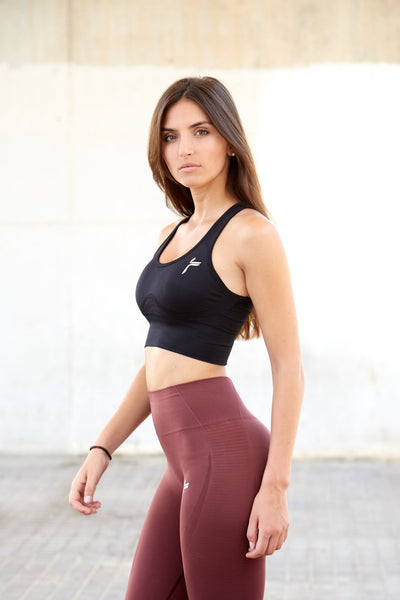 Black Elevate Crop Top Push Up