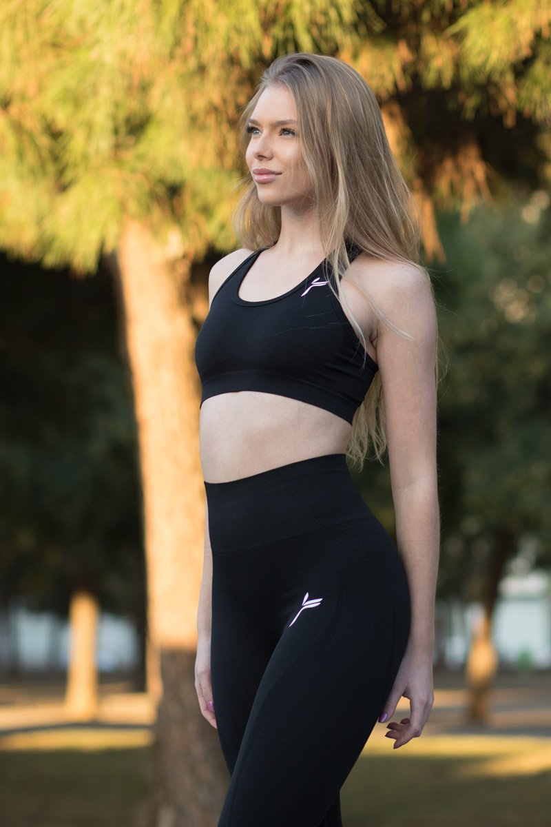 Black Drop It Sports Bra