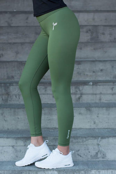Olive Green Essential High Waist Tights
