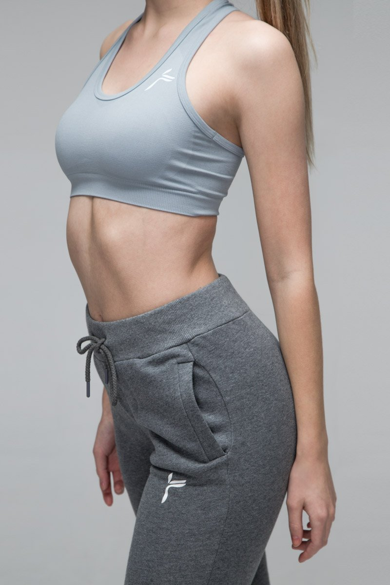 Light Grey Drop It Sports bra