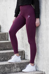 Wine Vortex Leggings