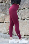 Bordeaux Vortex Leggings