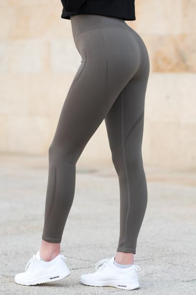 Khaki Vortex Leggings